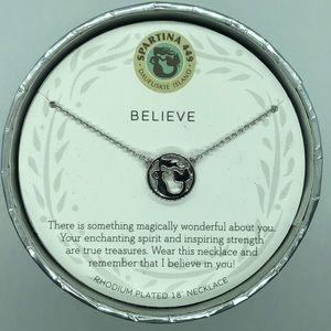 "SLV Silver ""Believe"" Mermaid Necklace"
